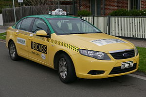 Taxicabs by country - Black Cabs Ford Falcon in Victoria