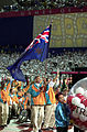 201000 - Opening Ceremony swimmers Paul Bird Brendan Burkett parades 4 - 3b - 2000 Sydney opening ceremony photo.jpg