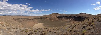 Lunar Crater National Natural Landmark - Lunar Crater as seen from the overlook, July 2014
