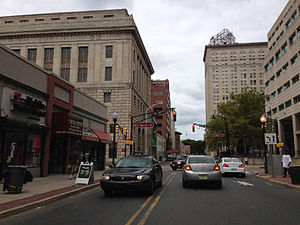 Downtown Trenton, New Jersey - East State Street in Downtown Trenton