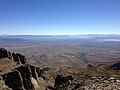 2014-09-24 10 30 53 View east-southeast from the east ridge of Hole-in-the-Mountain Peak, Nevada.JPG