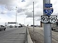 2015-11-04 11 08 45 First reassurance sign for southbound Interstate 515 along U.S. Routes 93 and 95 in Las Vegas, Nevada.jpg