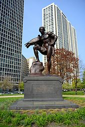 Statue dedicated to Goethe in Chicago's Lincoln Park (1913) (Source: Wikimedia)