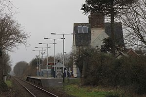 Whimple railway station - Seen from the east in 2016