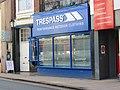 2018-04-01 'Trespass' outdoor cloths shop, Church Street, Cromer.JPG