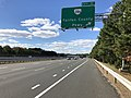 2018-10-24 13 07 06 View west along Virginia State Route 267 (Dulles Toll Road) at Exit 11 (Virginia State Route 286-Fairfax County Parkway) in Reston, Fairfax County, Virginia.jpg