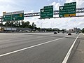 2019-05-29 16 15 55 View north along the inner loop of the Capital Beltway (Interstate 495) at Exit 47 (Virginia State Route 7-Leesburg Pike, Falls Church, Tysons Corner) on the edge of Tysons Corner and Idylwood in Fairfax County, Virginia.jpg