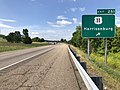 2019-06-06 10 25 03 View south along Interstate 81 at Exit 251 (U.S. Route 11, Harrisonburg) in Melrose, Rockingham County, Virginia.jpg