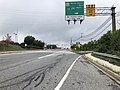2019-08-15 09 39 55 View south along U.S. Route 1 (Belair Road) at the exit for Maryland State Route 43 (White Marsh Boulevard, TO Interstate 695 WEST) in Overlea, Baltimore County, Maryland.jpg