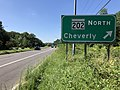 2020-08-18 11 19 40 View west along Maryland State Route 704 (Martin Luther King Junior Highway) at the exit for Maryland State Route 202 NORTH (Cheverly) in Landover, Prince George's County, Maryland.jpg