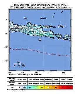 2021 East Java earthquake Earthquake in Indonesia