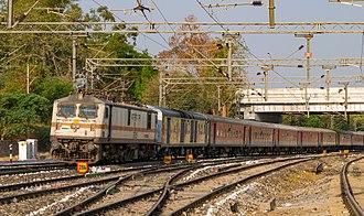Bangalore Rajdhani Express - 22691 Bengaluru Rajdhani Express near Lingampally Railway Station