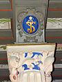 250513 Heraldic cartouche in the chapel of the castle in Baranow Sandomierski - 03.jpg