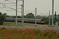 313027 and '39 take the fall in grade on the new Hitchin Flyover. - panoramio.jpg