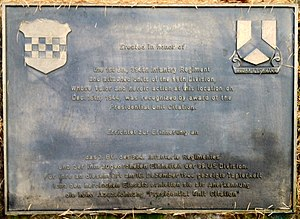 Presidential Unit Citation (United States) - Memorial plaque for Presidential Unit Citation near Losheimergraben