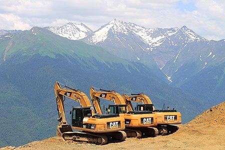 Construction of Rosa Khutor Alpine Resort, Sochi.