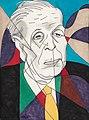 40. Adolf Hoffmeister, Jorge Luis Borges, 1965.jpg