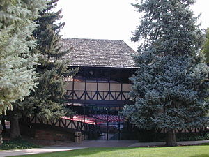 Utah Shakespeare Festival - West elevation of The Adams Theater