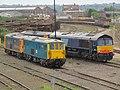 73208 + 73204 & 66402 + 73206 in Eastleigh Holding Sidings 26 July 2009.jpg