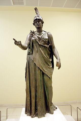 athena bronze sculpture