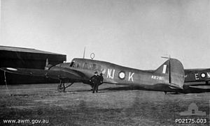 No. 73 Squadron RAAF - A No. 73 Squadron Anson at Nowra in 1944