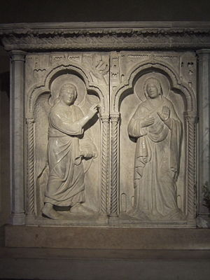 Abbey of Santa Maria in Sylvis - The Annunciation in the crypt