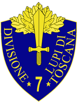 7th Infantry Division Lupi di Toscana - 7th Infantry Division Lupi di Toscana Insignia