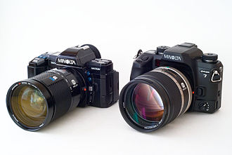 Minolta Maxxum 7000 - Maxxum 7000 next to a Maxxum/Dynax 7
