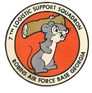 7th Expeditionary Airborne Command and Control Squadron - Image: 7th Logistic Support Squadron AFLC Emblem