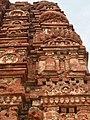 7th century reliefs on brick walls, Lakshmana Hindu temple, Sirpur Chhattisgarh India 4.jpg