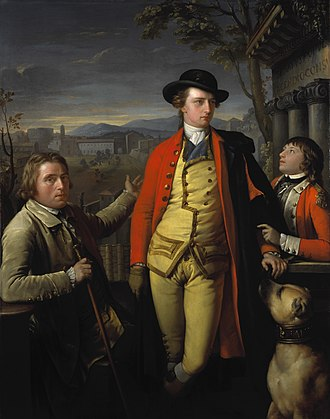 John Moore (British Army officer) - Moore's father, the 8th Duke of Hamilton, and a young John Moore, painted in Rome by Gavin Hamilton, 1775-6