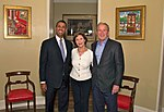 9.13.17 Chairman Pai with Former Prsident George W. Bush and Mrs. Bush at the Bush Center (28308029037).jpg