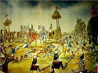 Scene from the epic Mahabharata