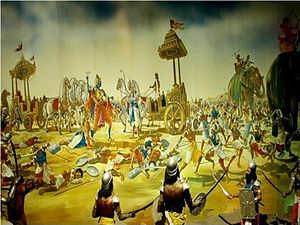English: 9th Day Kurukshetra War Painting form...