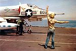 A-4C Skyhawk of VA-146 on USS Constellation (CVA-64) c1964.jpg