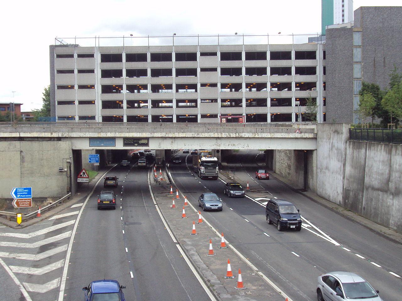 Woodhouse Lane Car Park Exits