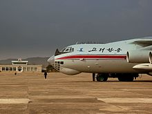 AIR KORYO IL76 P912 AT SONDOK HAMHUNG AIRPORT DPR KOREA OCT 2012 (8270008276).jpg