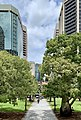 ANZAC Square, seen from steps to Shrine of Remembrance, Brisbane, 2020.jpg