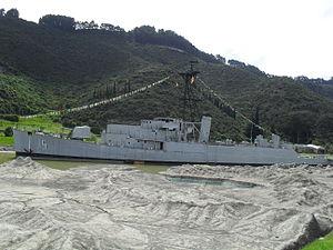USS Ruchamkin (APD-89) - ARC Córdoba (DT-15), ex USS Ruchamkin (APD-89) in exhibition in the Jaime Duque Park, Tocancipá, Colombia.