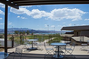 ASU Colleges at Lake Havasu City - The view of Lake Havasu from the ASU Havasu Student Center Patio.