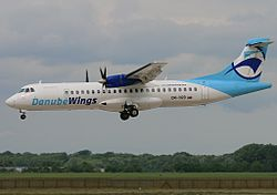 ATR 72-200 der Danube Wings