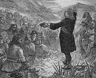 Conventicle Act 1664 - Image: A Covenanters Conventicle