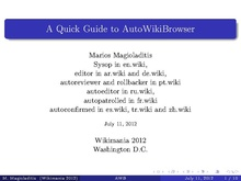 A Quick Guide to AutoWikiBrowser