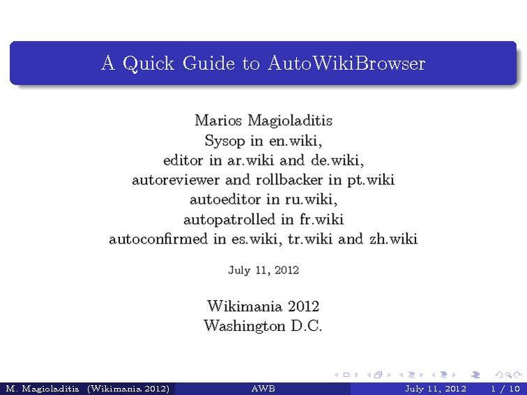 File:A Quick Guide to AutoWikiBrowser.pdf