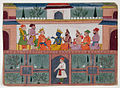 A king receives Krishna in his palace (6124585295).jpg