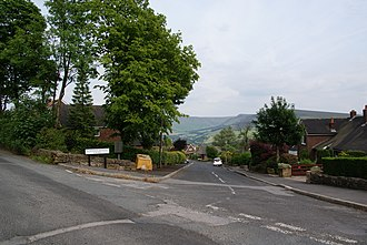 Grasscroft - Image: A road with a view (geograph 1940849)