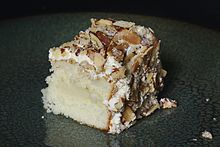 ... almond torte from Prantl's Bakery in Pittsburgh the best cake in