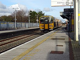 A train for Cork stands in Midleton Station (geograph 4910466).jpg