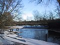A wintry scene by the weir on the River Cherwell - geograph.org.uk - 2217749.jpg