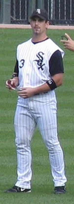 Aaron Rowand - Aaron Rowand in center field on October 5, 2005.